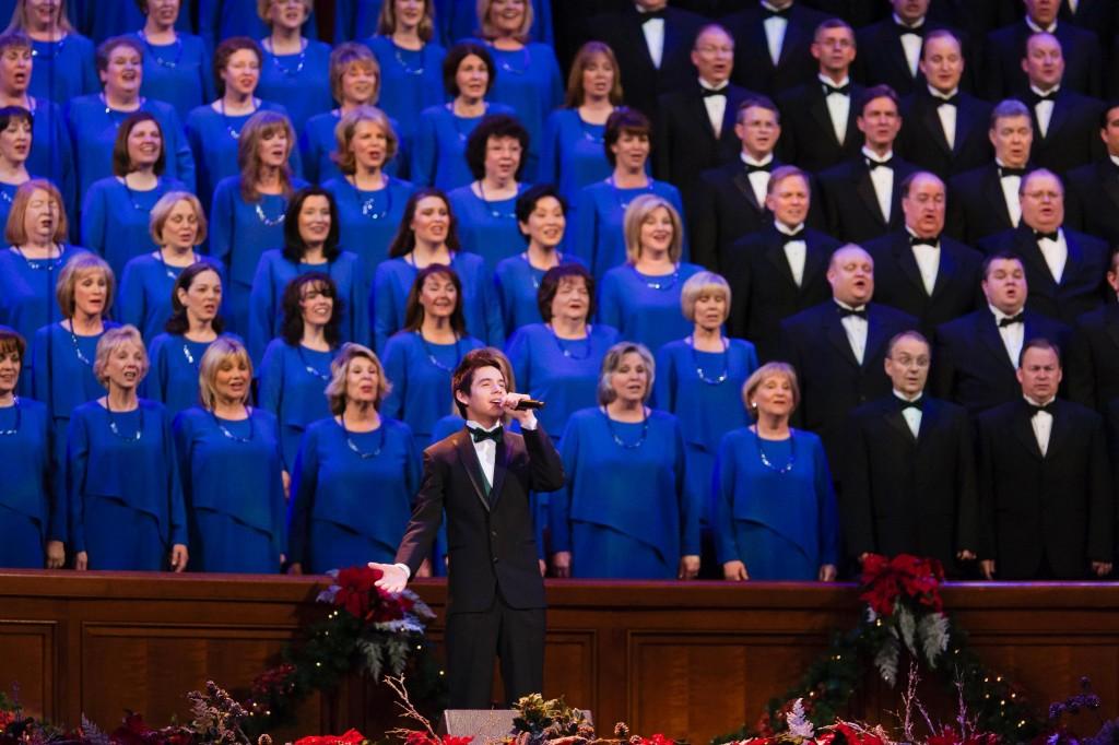 陽光大衛在 摩爾門大會堂唱詩班 獻唱